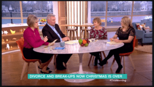Sarah Snow answers divorce questions on ITV