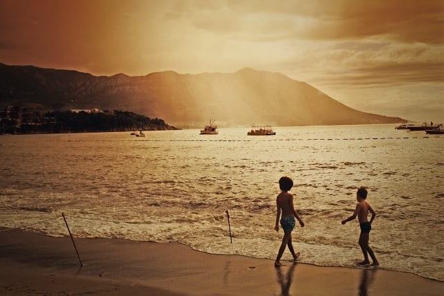 Two boys on the beach