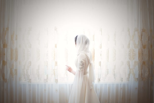 Islamic wedding bride