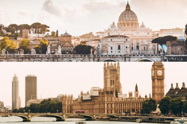 Rome and London
